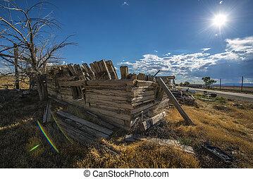 fantasma, cidade,  cisco,  Utah