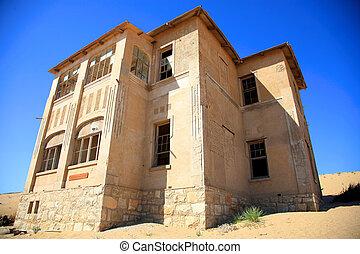 fantasma, ciudad, luderitz, kolmanskop, -, namibia
