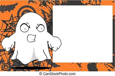 fantasma, dia das bruxas, caricatura, frame1