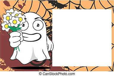 fantasma, dia das bruxas, caricatura, frame5