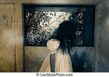 fantasma, en, casa frecuentada