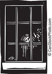 fantasma, finestra