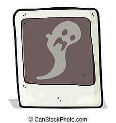 fantasma, fotografía, caricatura