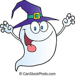 fantasma, halloween, carácter, caricatura