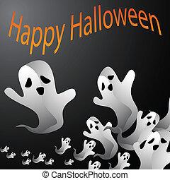 fantasma, halloween, fondo
