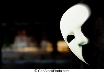 fantasma, mascarada, ópera, -, máscara