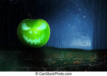 fantasma, mela, oscurità