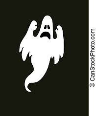 fantasma, pauroso, halloween