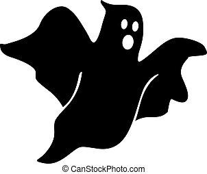 fantasma, pauroso, vettore