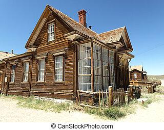 fantasma, pueblo, casa, abandonado,  Bodie