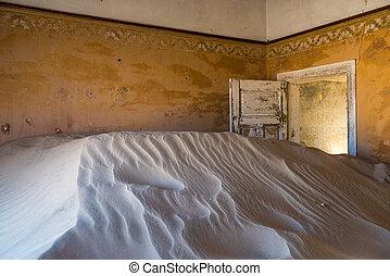 fantasma, pueblo,  Kolmanskop,  Namibia, abandonado