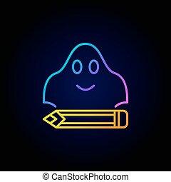fantasma, scrittura, concetto, colorito, icona