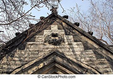 fantasmal, cima, mausoleo