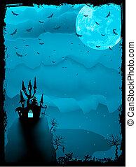 fantasmal, halloween, eps, horror., 8, composición