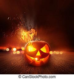 fantasmal, noche de halloween