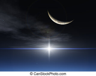 fantasme, étoile, lune