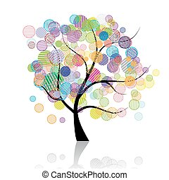 fantasme, art, arbre