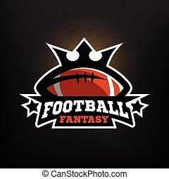 fantasme, football américain, logo.