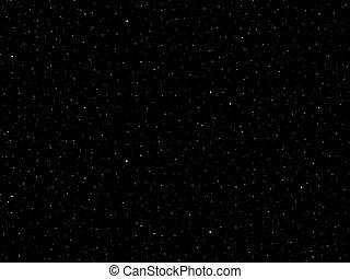 fantasme, galaxie, étoiles, champ
