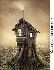 fantasme, maison arbre