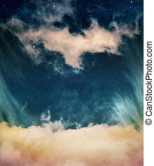 fantasme, nuages, étoiles