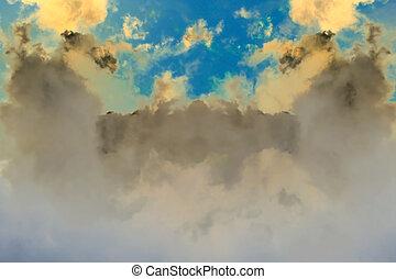 fantasme, nuages, fond