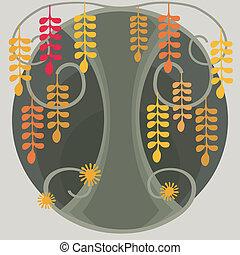 Fantastic Acacia Tree - Illustration cartoon abstract tree....