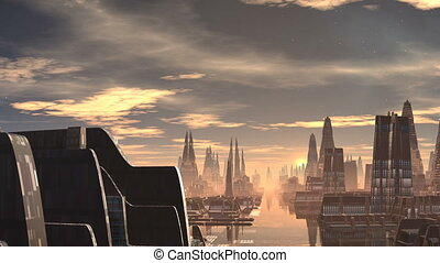 Fantastic (alien) city and UFO