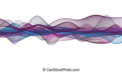 Fantastic animation with wave object in slow motion,...