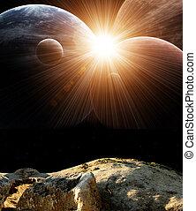 Fantastic beautiful flare - Beautiful majestic space. ...