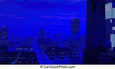 Fantastic blue city