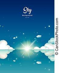 Fantastic blue sky background
