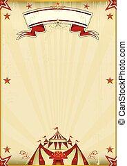 Fantastic brown circus vintage - A kraft circus poster for...