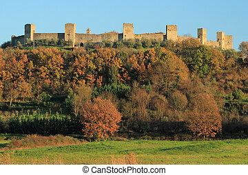 Fantastic Castle of Monteriggioni