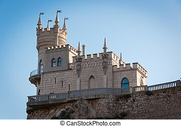 Fantastic castle on a rock