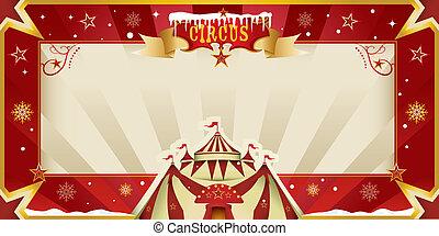 Fantastic christmas circus invitati - A greeting circus card...