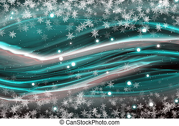 Fantastic Christmas wave design with snowflakes
