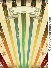 Fantastic color sun party - A vintage background with a...