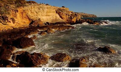 Fantastic colorful Mediterranean coast line