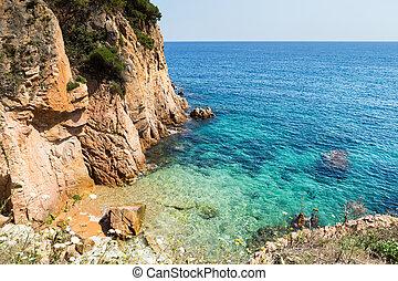 Fantastic corner of Costa Brava beach in Sant Feliu de Guixols.