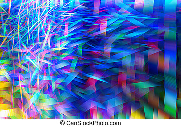 Fantastic fractal background. Abstract bright Golden, blue, pink and purple chaotic shapes. colored background