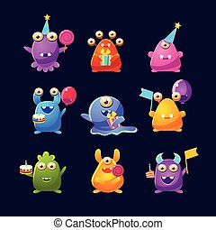 Fantastic Monsters With Birthday Party Objects
