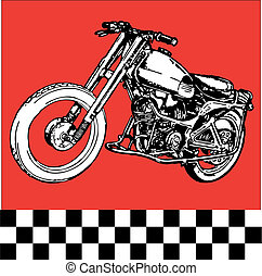 fantastic moto motocycle retro vintage classic vector illustration