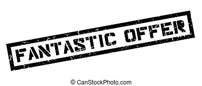 Fantastic Offer rubber stamp on white. Print, impress,...