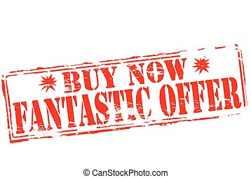 Fantastic offer - Rubber stamp with text fantastic offer ...