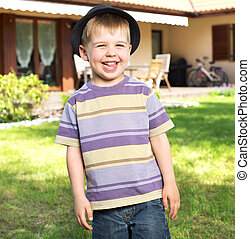 Fantastic picture of laughing kid