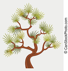 Fantastic Pine Tree - Small pine tree in oriental style,...