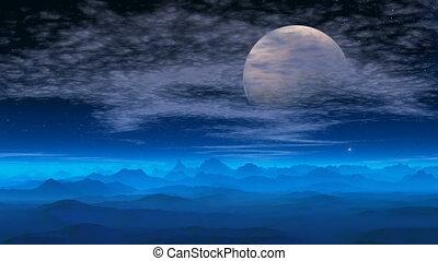 Fantastic planet. The big moon.