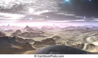 Fantastic planet. The bright moon