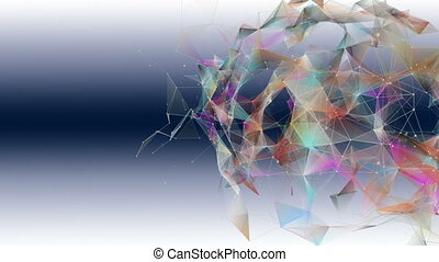 Fantastic plexus animation with modern triangles in slow ...